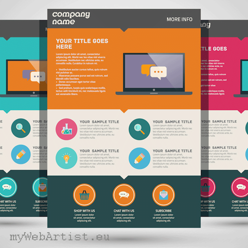 create landing page mywebartist business boost